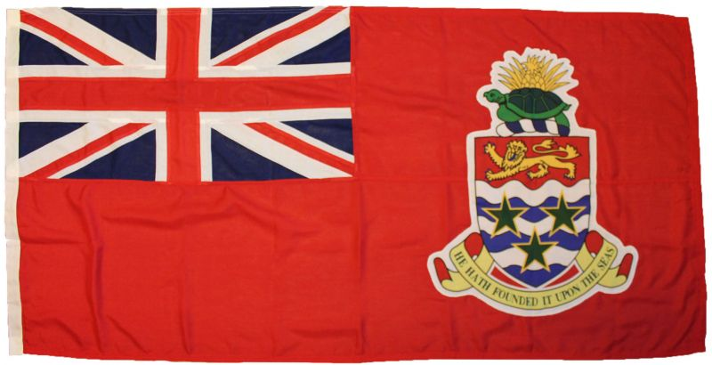 5yd 180x90in 460x230cm Cayman Islands red ensign (woven MoD fabric)