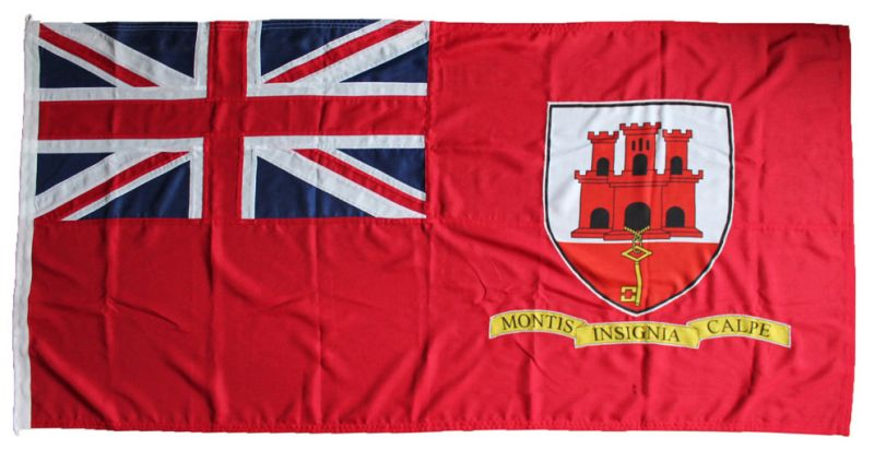 5x3ft 60x36in 152x91cm Gibraltar red ensign (woven MoD fabric)