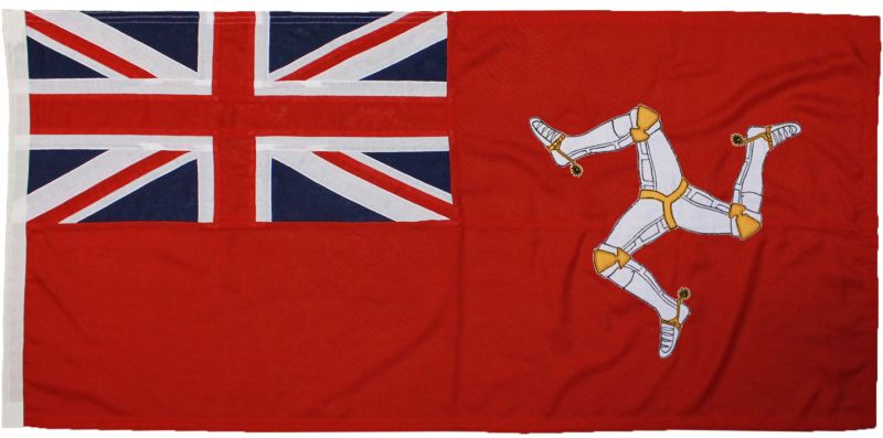 5x3ft 60x36in 152x91cm Isle of Man ensign (woven poly)