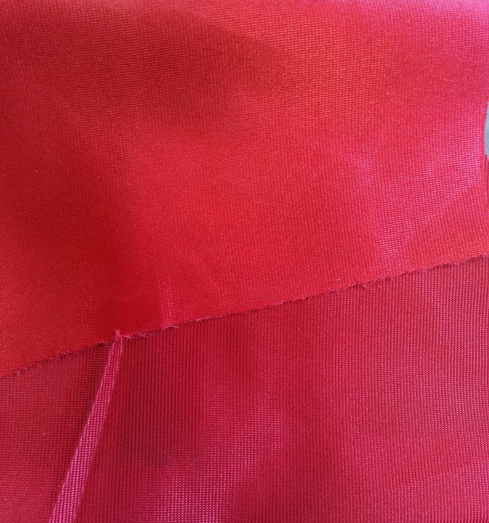 Red (regular) SATIN FINISH knitted polyester