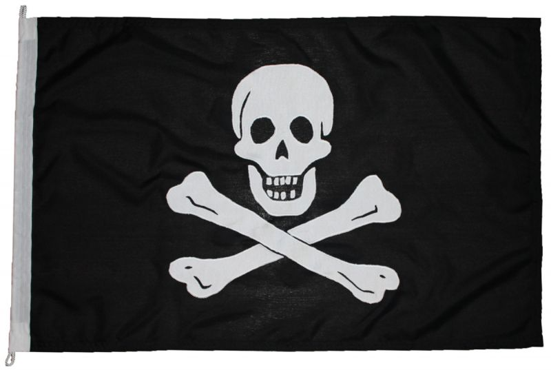1yd 36x18in 91x45cm Jolly Roger (woven MoD fabric)