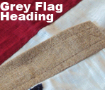 grey handsewn flag union jack photo