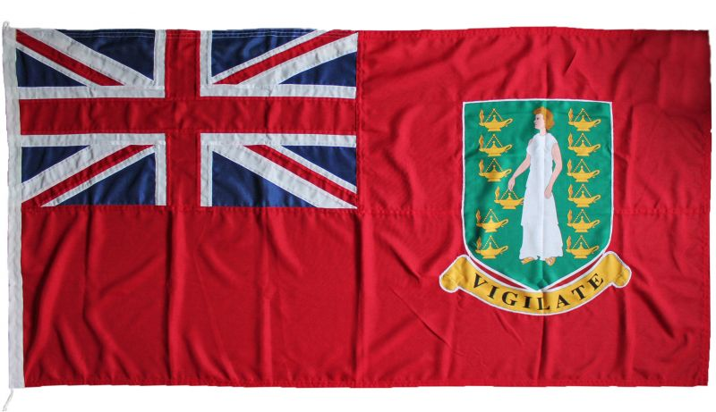 1yd 36x18in 91x45cm British Virgin Islands red ensign (woven MoD fabric)