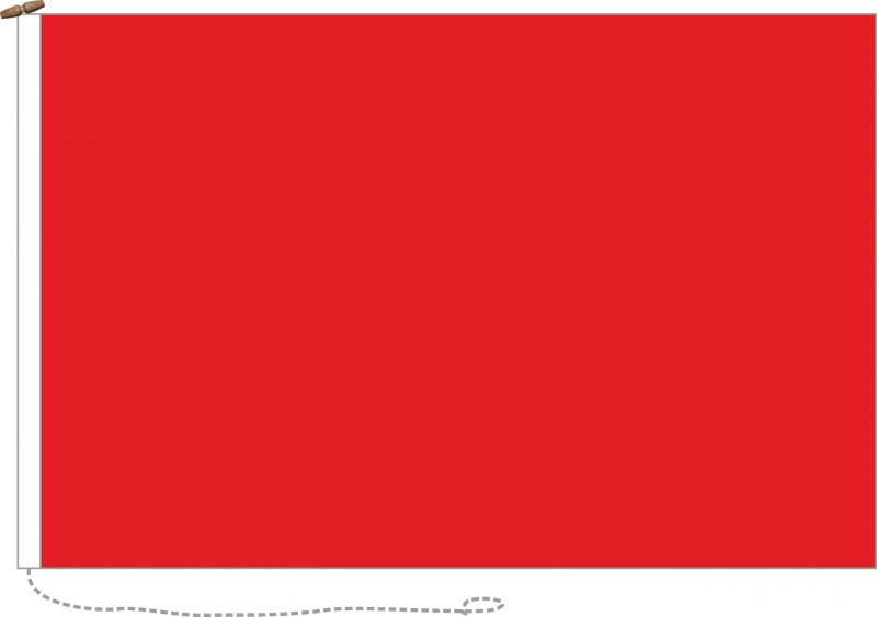 166x100cm Red flag (woven MoD fabric)
