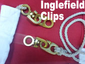 Inglefield clips stainless metal fixed swivel eye hooks uk image