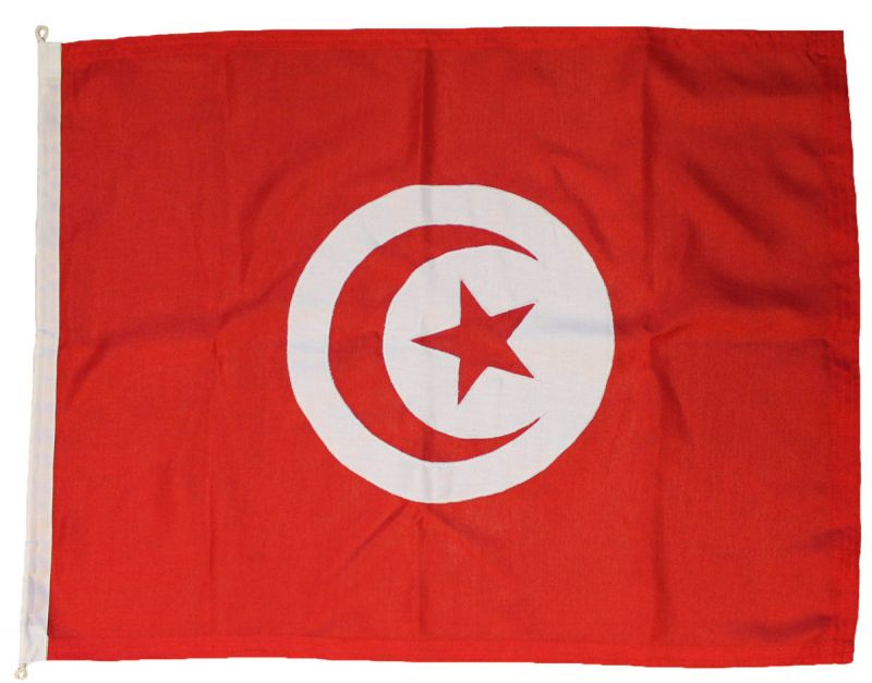 Buy sewn Tunisia Tunis  flag Courtesy ensign woven mod fabric stitched traditionaly uk marine outdoor pole image