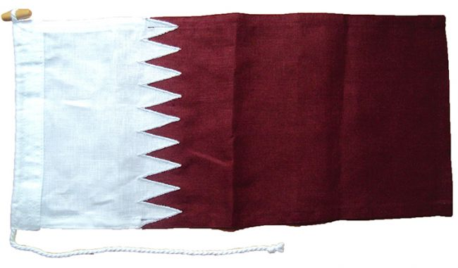 qatar sewn flag linen buy size price quality manufacturer