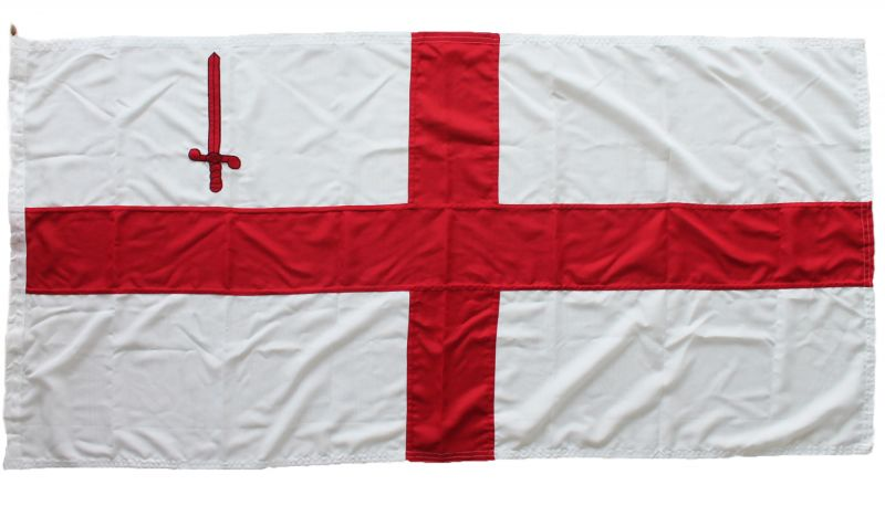 Buy sewn City of London flag stitched photo mod approved