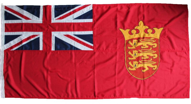 Jersey channel islands ensign flag red sewn stitched uk british mod approved traditional spain badge buy image marine grade