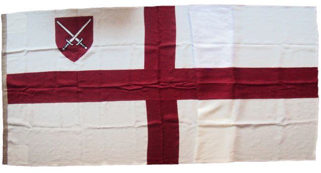 london diocese sewn linen cloth flag embroidered arms church st george diocesan photo