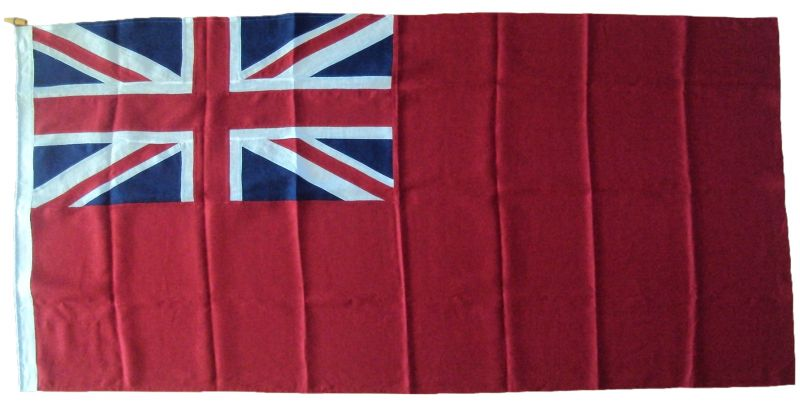 Linen Cloth cotton Sewn Red Ensign boat flag image buy price order size luxury