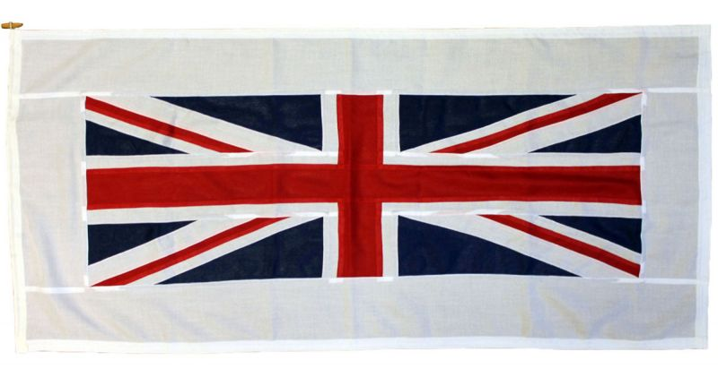Buy sewn Pilot Civil Union Jack bow ship woven polyester flag British UK stitched