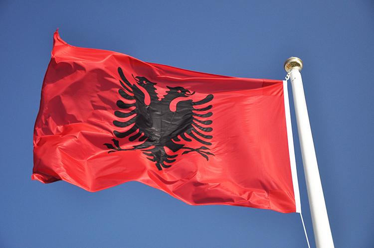 Buy Albanian flag - European Flags - Albania - 1yd 36x18in 91x45cm ...: https://easyflags.co.uk/shop/european-flags/albania/1yd-36x18in...