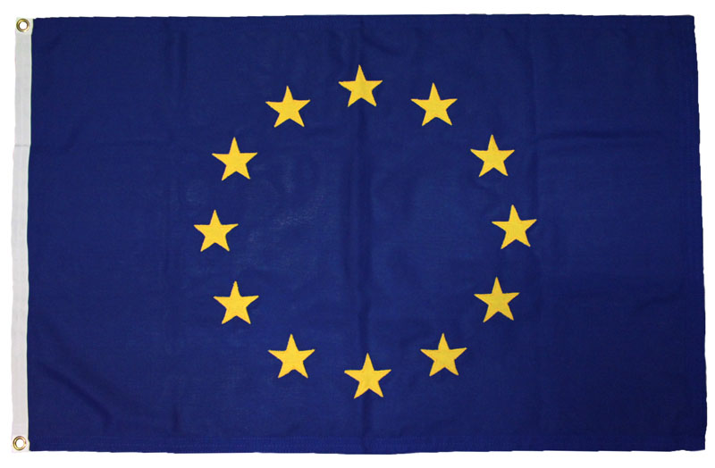 EU European Union flag EEC image sewn mod woven polyester uk manufactured outdoor yacht boat deutschland