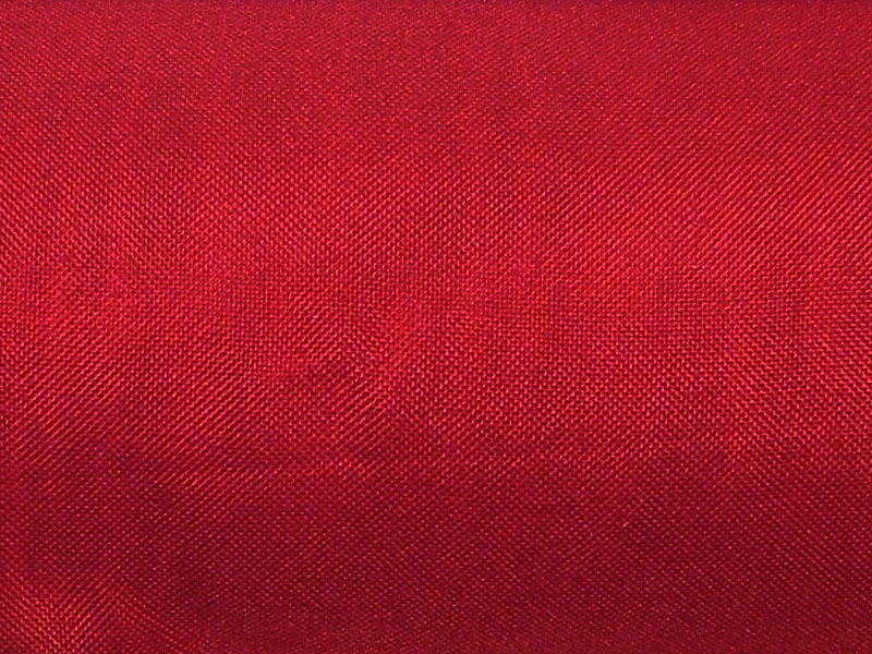 Dark red woven polyester