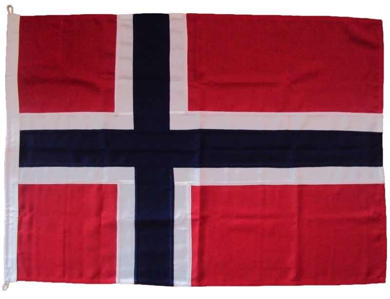 85x62cm Norsk Flagg