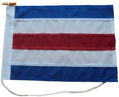 15x12in 38x30cm Charlie C signal flag US Navy Size 0 & British Navy Size